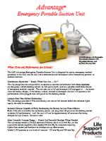 LSP Advantage® Emergency Portable Suction Unit