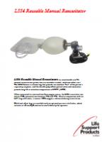 LSP L554 Reusable Manual Resuscitator